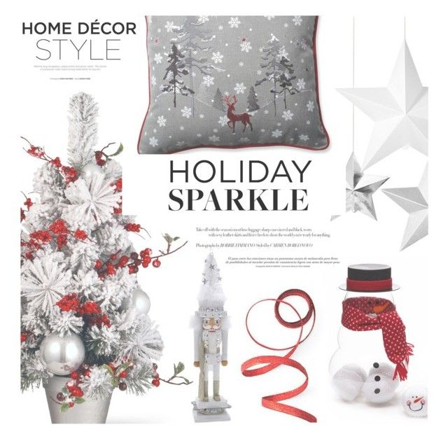"""Holiday Decor"" by aislinnhamilton1993 ❤ liked on Polyvore featuring interior, interiors, interior design, home, home decor, interior decorating, Frontgate, Kurt Adler, Home and decor"