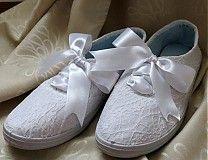 Svadba - Čipkované topánočky - 2424909
