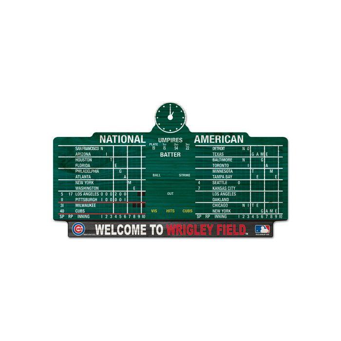 Wincraft MLB Chicago Cubs Wrigley Score Graphic Art Plaque & Reviews | Wayfair