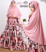 Gamis Syar'i Motif Lorena (085838867346 WA)