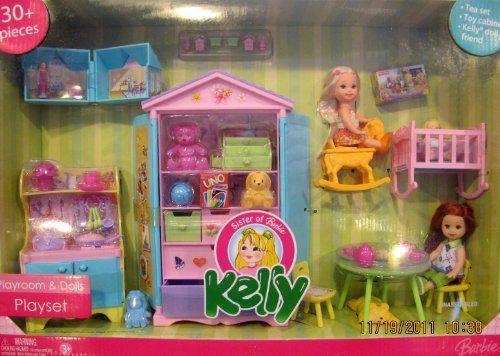 Barbie KELLY PLAYROOM & DOLLS 30+ Piece Playset w 2 DOLLS, Cabinet, Tea Set, Table & MUCH More! (2006) Kelly Playroom & Dolls Playset 30+ Pieces http://www.amazon.com/dp/B0069WT5LI/ref=cm_sw_r_pi_dp_TbvXtb176FHKEEF5