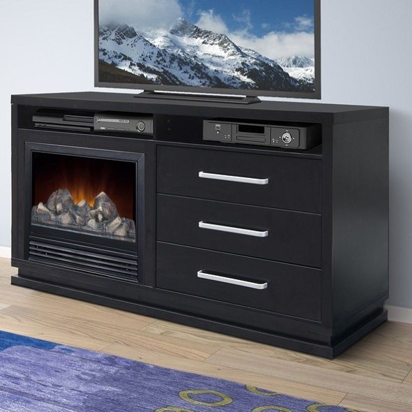Electric Fireplace Tv Stand Heater Entertainment Center Media Cabinet Unit Table