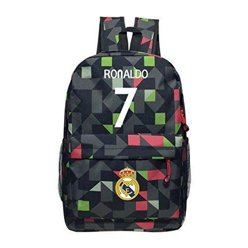 Kayisamo Real Madrid Cristiano Ronaldo 7 Cosplay Football Fans Backpack School Bag