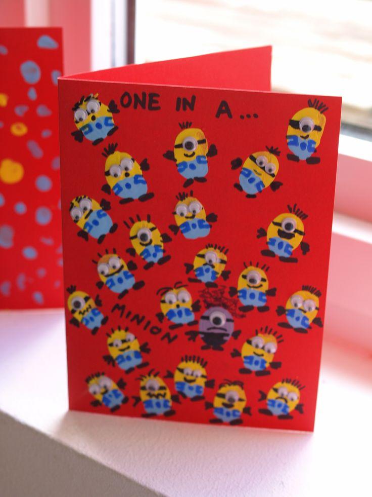 Fingerprint Minion Card - Here Come the Girls