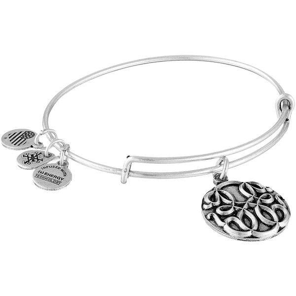 Alex and Ani Path Of Life III Bracelet ($28) ❤ liked on Polyvore featuring jewelry, bracelets, charm bangle, charm jewelry, travel charms, adjustable bangle and alex and ani jewelry