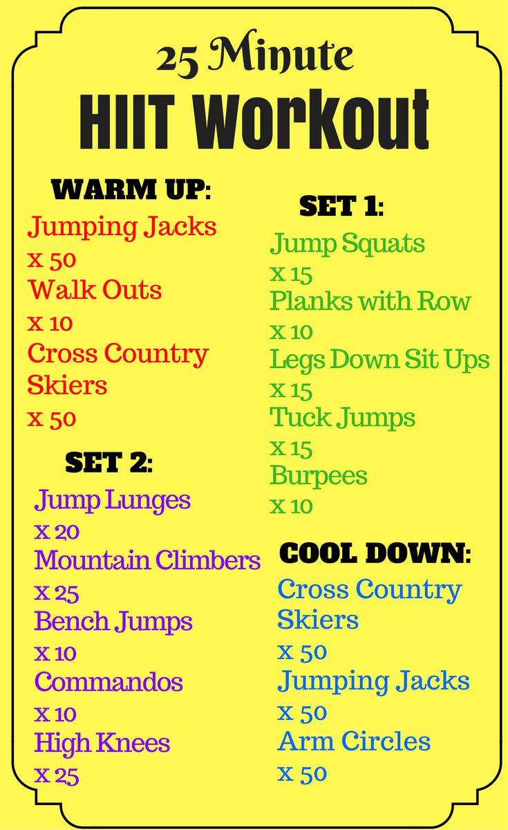 Runner's HIIT Workout   25 Minute HIIT Workout   Cross Training   Workout Ideas