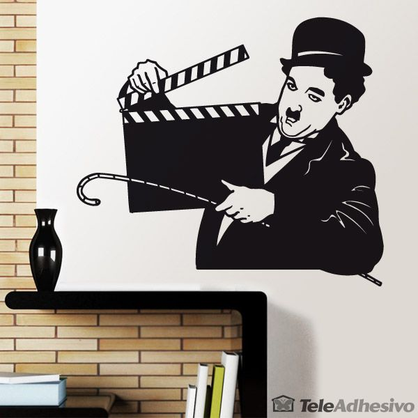 stickers muraux chaplin stickers muraux cinema. Black Bedroom Furniture Sets. Home Design Ideas