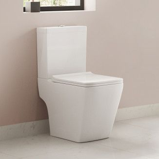 The Voss toilet is a superbly designed and beautifully manufactured close coupled toilet. It has a unique squared design and has a variety of matching basins and pedestals. Made from high quality ceramic and complete with a thin soft close toilet seat.