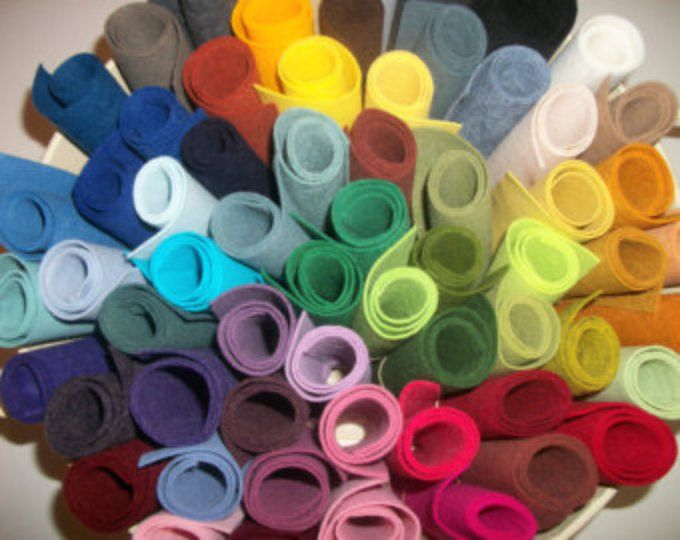 Wool Felt sheets pack of 20 any colors 9 x 12