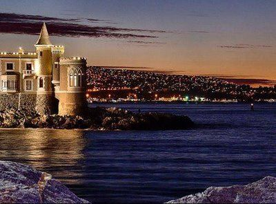 Vina del Mar, Chile.. that's right. My mission has a castle on the ocean:)