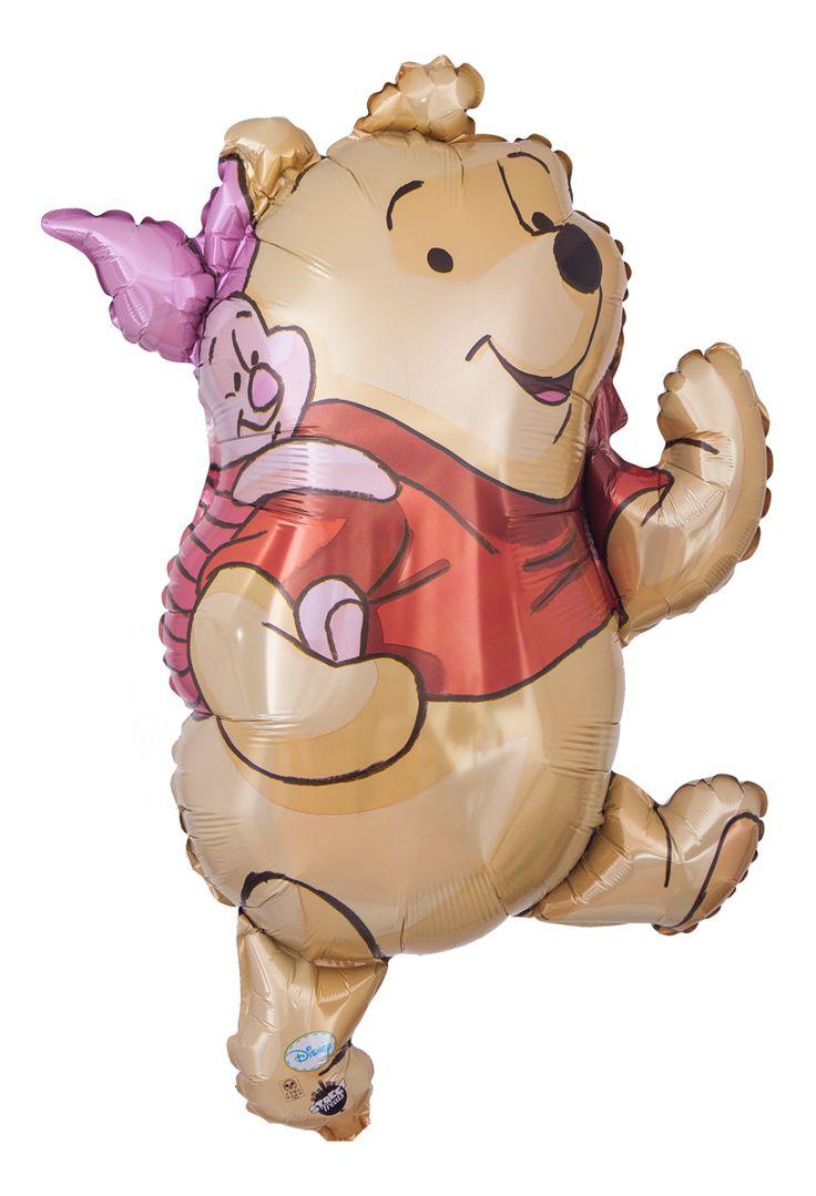 """Witziger Heliumballon mit dem Motiv """"Winnie Pooh und Ferkel"""", Größe: 100 cm"""