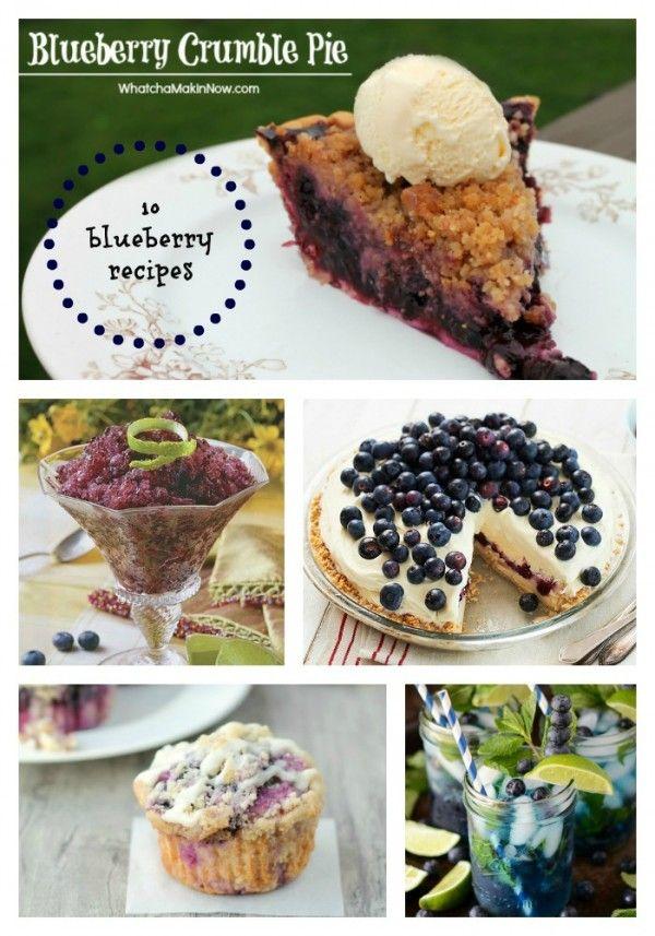 Blueberry Recipes @joyfulscribblings