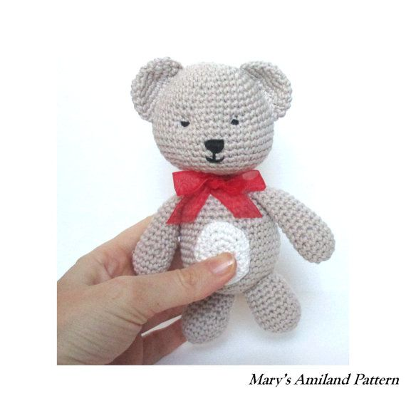 Tino Bear The Ami  Amigurumi Crochet Pattern  by MarysAmiland