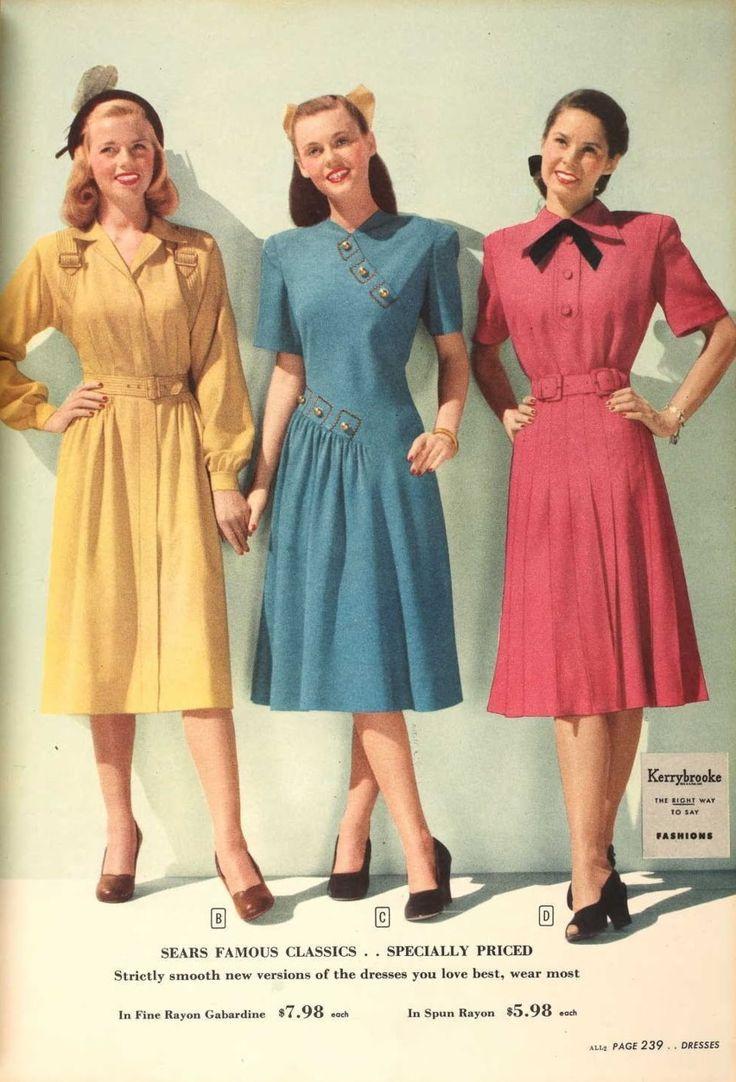 40s Fashions Vintage Dress 40 39 S Pinterest