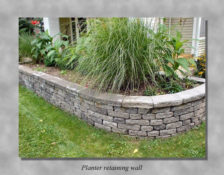39 best retaining walls images on pinterest for Raised garden wall ideas