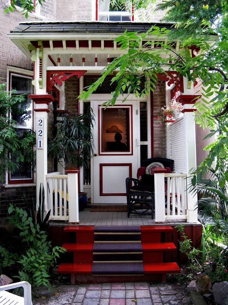 Beautiful Red Front Porch Design Part 65