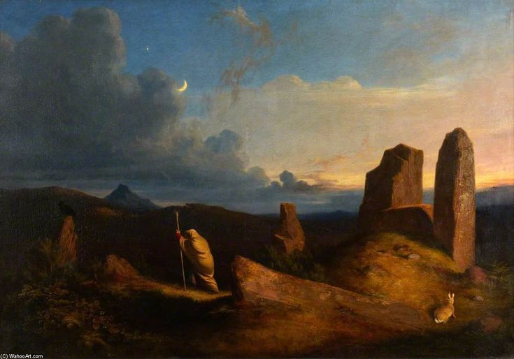 La femme étrange O Lang Stane Lea de James William Giles (1801-1870, United Kingdom)