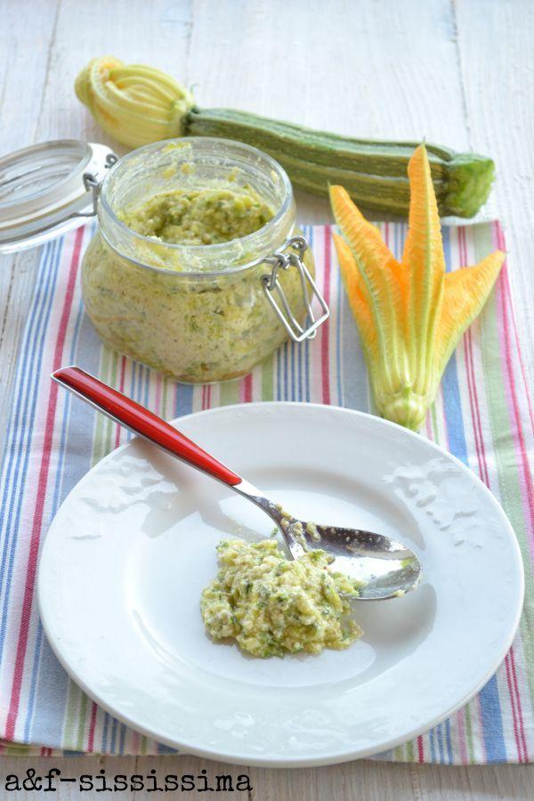 acqua e farina-sississima: crema di zucchine, ricotta e nocciole