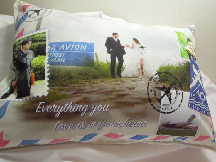 Uniek cadeau fotokussen opmaat gemaakt Huwelijkscadeau trouwen