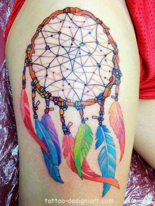 tattoo dreamcatcher idea tattoos art design style girls picture image http://www.tattoo-designiart.com/tattoos-designs-for-girls/dream-catcher-tattoo-design-10/