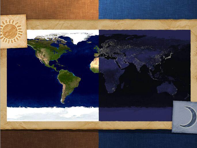 Домашнего декора ловца снов детская комната наклейки на стены 45 X 60 см живопись ядро украшения сада ночь и день карта мира плакат купить на AliExpress