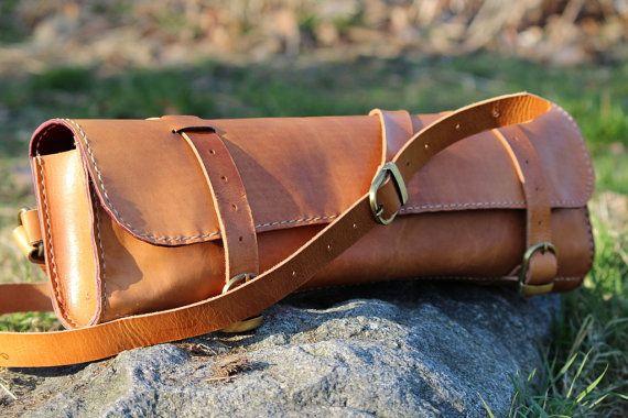 Transverse flute leather case bag Leder por SamakLeder en Etsy