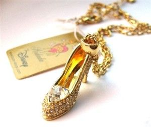 Disney Couture Gold Cinderella Slipper Necklace review | buy, shop with friends, sale | Kaboodle