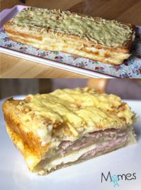 Croque-cake au jambon-fromage