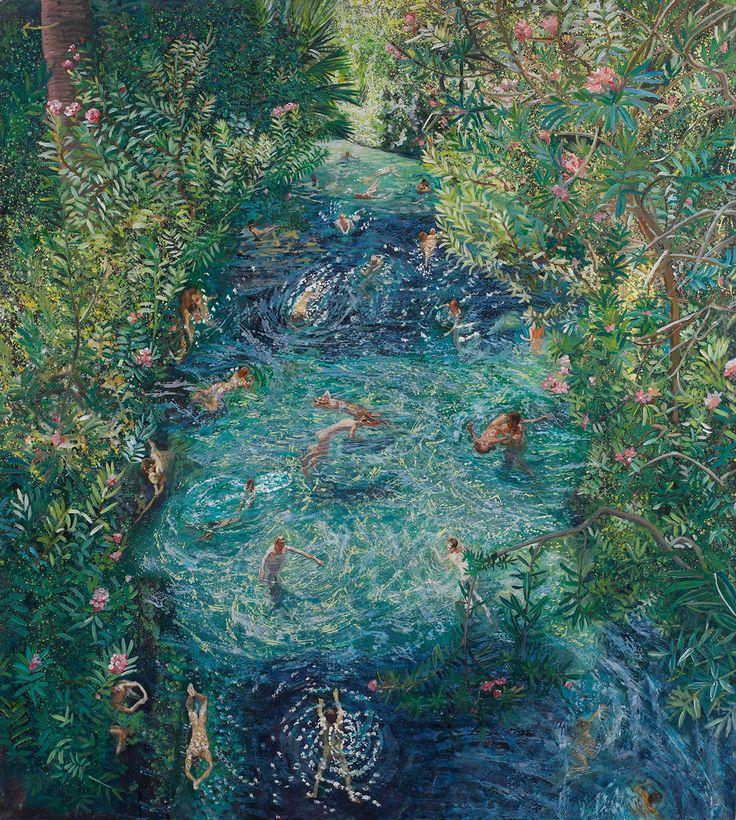 Maria Filopoulou,Ancient Pool, Ierapolis,2009.Oil on canvas,180 x 200cm.