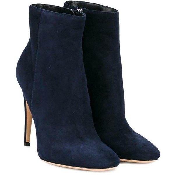 Gianvito Rossi dana ankle boots (3,280 PEN) ❤ liked on Polyvore featuring shoes, boots, ankle booties, navy blue bootie, ankle boots, blue ankle boots, navy blue leather boots and navy blue ankle boots