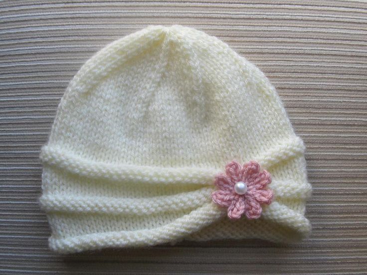 Knit Brim Hat Pattern : Rolled Brim Hat for a Girl Patterns, Knit hat patterns and Knitted baby