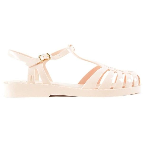 Aranna Flat Sandals (185 BRL) ❤ liked on Polyvore featuring shoes, sandals, womenshoessandals, melissa shoes, ankle wrap flat sandals, plastic flat shoes, melissa sandals and plastic sandals