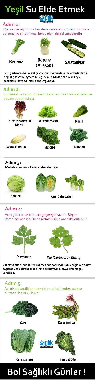 Yeşil Sebze ve Bitki Suları Kılavuzu.. #detoks #yeşilsu #sağlıklıbeslenme #sağlıklıyaşam #sağlıkhaberleri #sağlık
