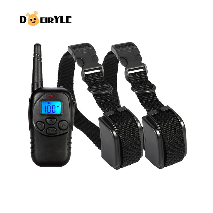 DEIRYLE Dog Training Collar With Remote 300m,Vibrating Pet Trainer Collar for 2 Dogs Training Shock Collar
