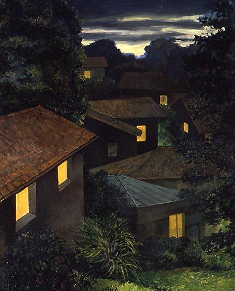 Renato Guttuso (Italian, 1911-1987) Sera a Velate (Evening in Velate), 1980. Oil on canvas