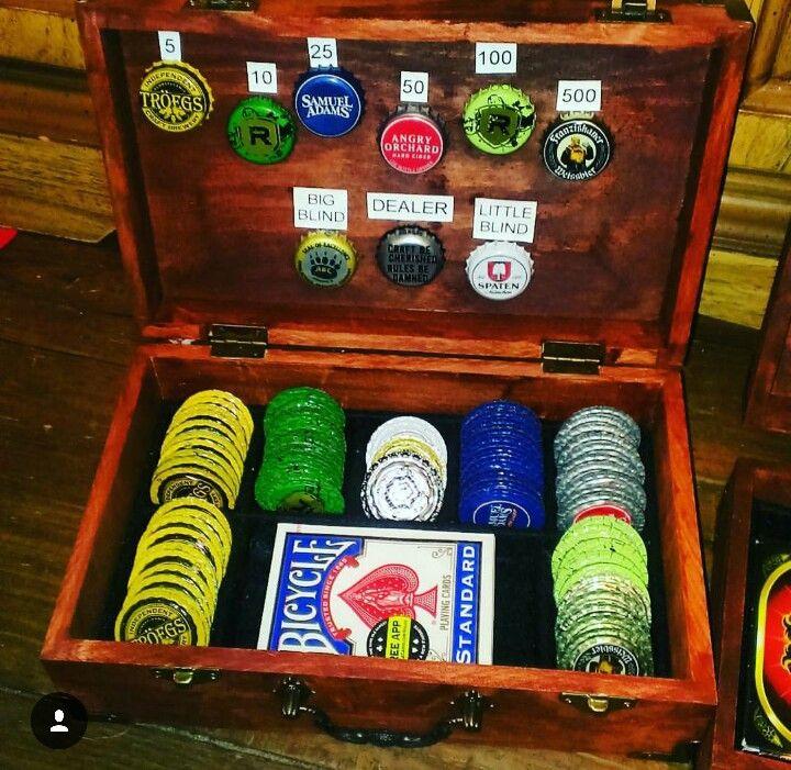 Beer cap poker chips.