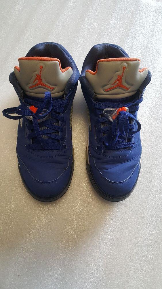 606e74a6036d Air Jordan 5 Retro Low Knicks 819171-417 Royal Orange Navy White SZ 10.5   fashion  clothing  shoes  accessories  mensshoes  athleticshoes (ebay link)