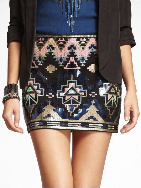 17 best ideas about Aztec Sequin Skirt on Pinterest | Icra rating ...