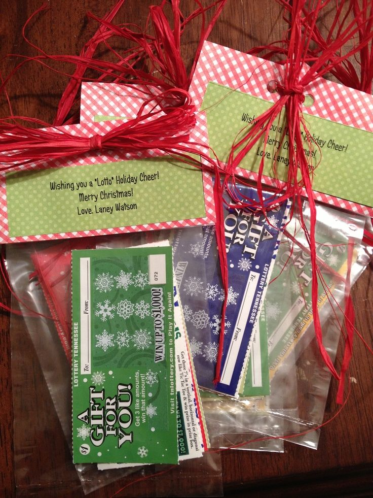 Image result for lottery ticket teacher christmas gift