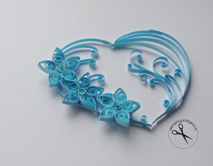 quilling heart valentine paper