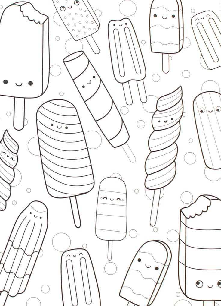 32 Page Happy Snacks Spiral Perforated Coloring Book One Sided Pages Adult Kids X Optional Crayons Unique Gift