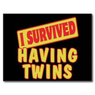 funny twin quotes | Funny Twin Sayings Postcards & Postcard Template Designs