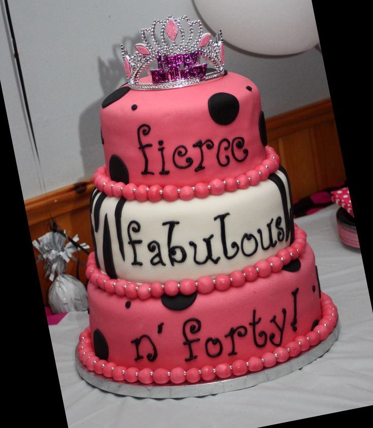 Cake Design 40th Birthday : My 40th birthday cake! Fierce, Fabulous and Forty ...