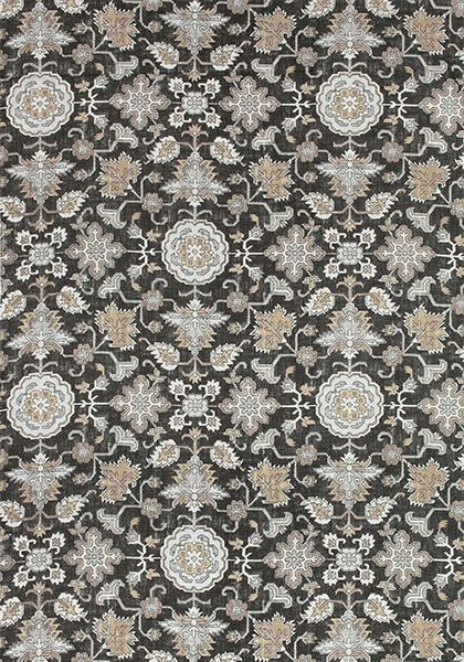 Mahal #print #fabric in #grey from the Caravan collection. #Thibaut