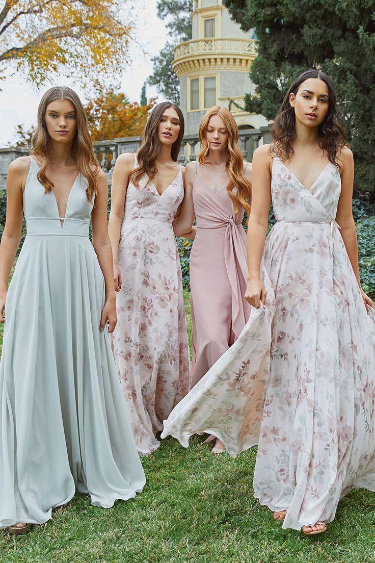 Spring 2019 Bridesmaids In 2020 Spring Bridesmaid Dresses Green Bridesmaid Dresses Jenny Yoo Bridesmaid Dress