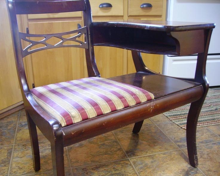 Gossip Benches Part - 17: Antique Telephone Chair/Gossip Bench