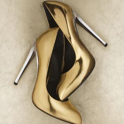 Giuseppe Zanotti Pointed Toe Pumps - Frida High Heel: Fashion Shoes, Silver Heels, Giuseppe Zanotti, Girls Fashion, High Heels, Girls Shoes, Mixed Metals, Stay Golden, Gold Shoes