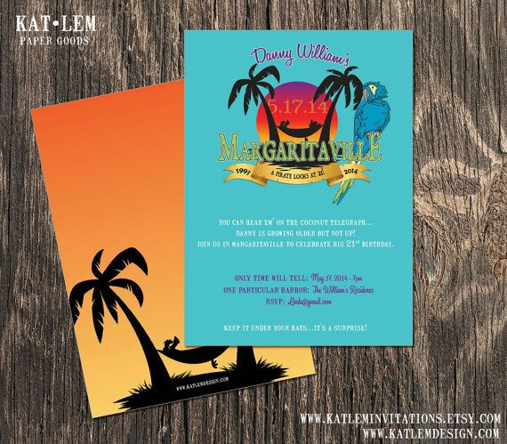 8 best images about Retirementville Party – Jimmy Buffett Party Invitations