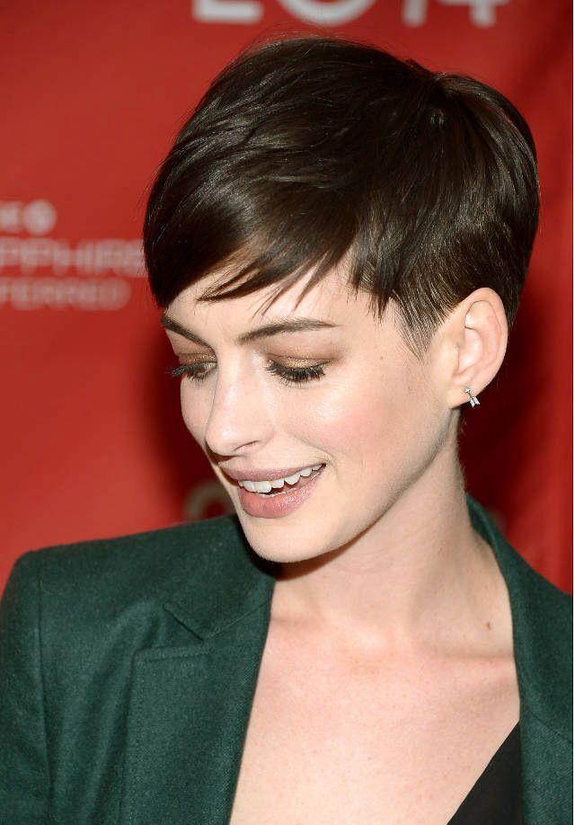 Anne Hathaway's pixie... Obsessed http://thesharonosborne.com