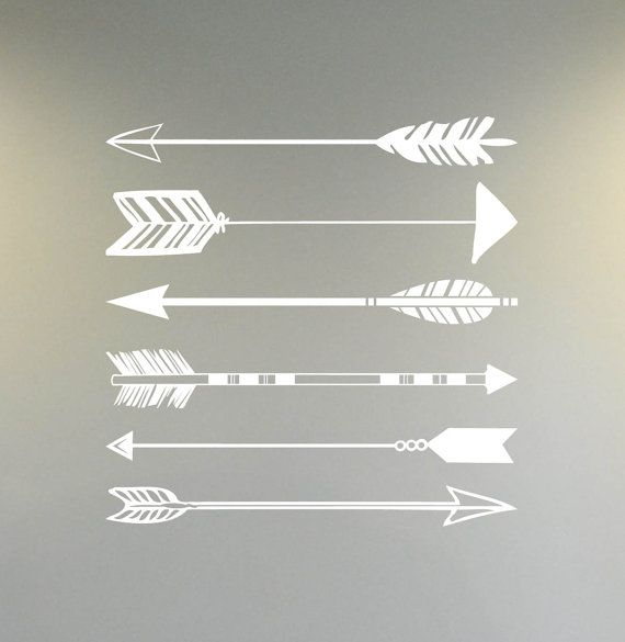 arrow pack 6 bc762 custom vinyl lettering wall words stickers home decor vinyl decor arrow decals